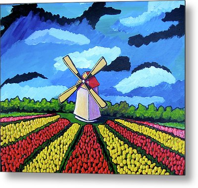 German Tulip Field Metal Print