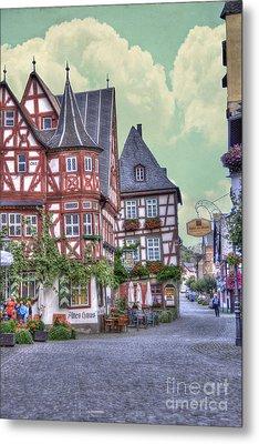 German Village Along Rhine River Metal Print by Juli Scalzi