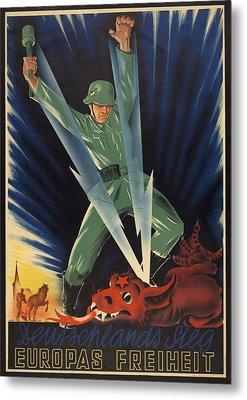 German World War 2 Poster. Deutschlands Metal Print by Everett