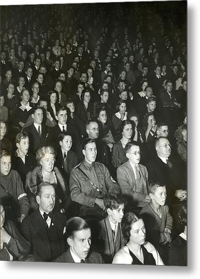 Germans Attend The Theater To View Nazi Metal Print