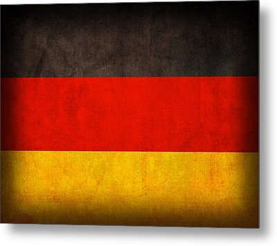 Germany Flag Vintage Distressed Finish Metal Print