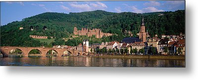 Germany, Heidelberg, Neckar River Metal Print by Panoramic Images