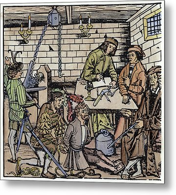 Germany Witch Trial Metal Print by Granger