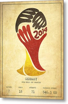 Germany World Cup Champion Metal Print by Aged Pixel