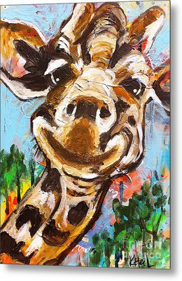 Gerry The Giraffe Metal Print