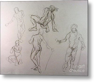Gestures Of A Man Metal Print by Andy Gordon