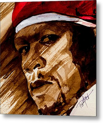 Metal Print featuring the painting Get Rich Or Die Tryin' by Laur Iduc