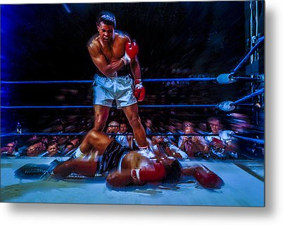 Get Up And Fight Sucker Metal Print