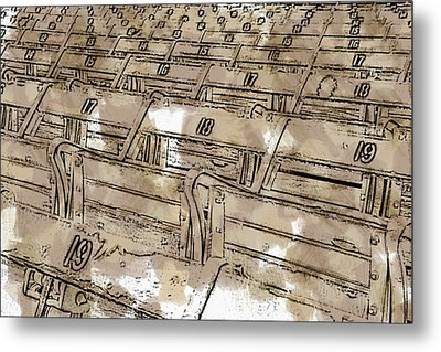 Get Your Seat Metal Print by Alice Gipson