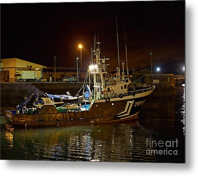 Getaria At Night Metal Print by Louise Heusinkveld
