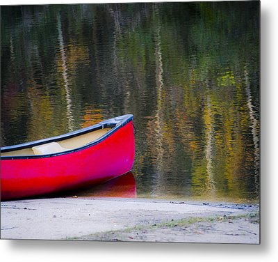 Getaway Canoe Metal Print by Carolyn Marshall