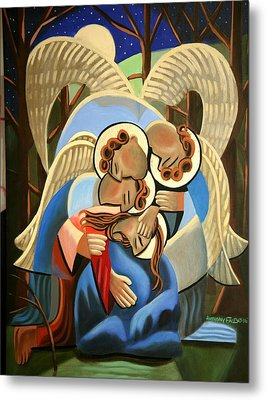 Gethsemane The Hour Is Near Metal Print by Anthony Falbo