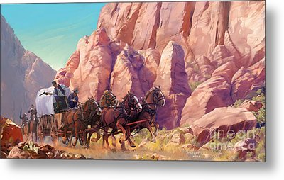 Metal Print featuring the painting Gett'en Through by Rob Corsetti