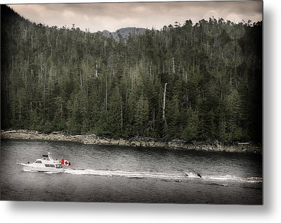 Metal Print featuring the photograph Getting A Tow In Canada by Davina Washington