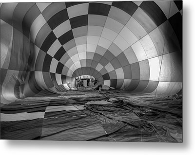 Getting Inflated-bw Metal Print by Tom Weisbrook