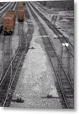 Getting On The Right Track Metal Print