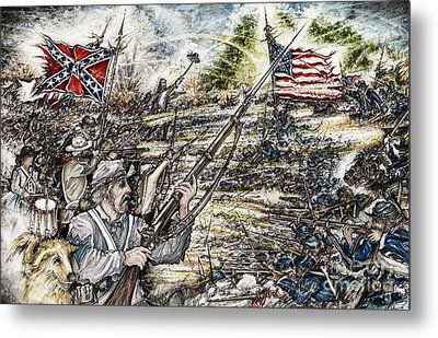 Gettysburg Ash's At The Angle Metal Print by Scott and Dixie Wiley