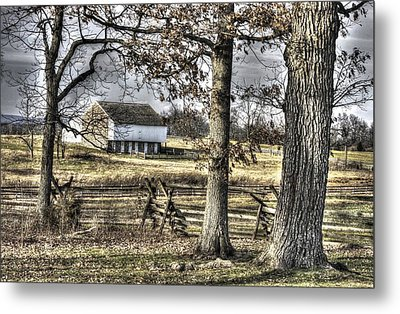 Metal Print featuring the photograph Gettysburg At Rest - Winter Muted Edward Mc Pherson Farm by Michael Mazaika