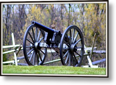 Gettysburg Battlefield Cannon Metal Print by Patti Whitten