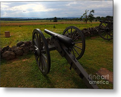 Gettysburg Battlefield Historic Monument Metal Print by James Brunker