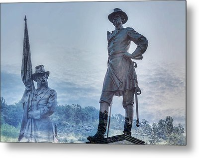 Gettysburg Battlefield Statues Metal Print by Randy Steele