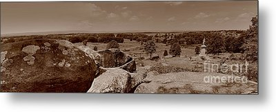 Metal Print featuring the photograph Gettysburg From Little Round Top by Nigel Fletcher-Jones