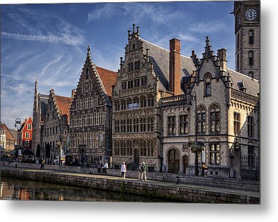 Ghent Guild Houses Metal Print by Joan Carroll