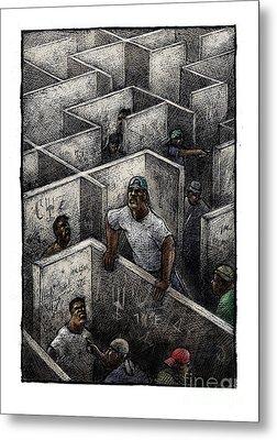 Ghetto Metal Print by Chris Van Es
