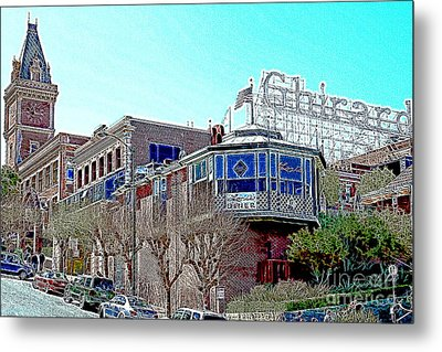 Ghirardelli Chocolate Factory San Francisco California 7d14093 Artwork Metal Print by Wingsdomain Art and Photography