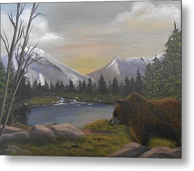 Ghost Bear-the Cascade Grizzly Metal Print by Sheri Keith