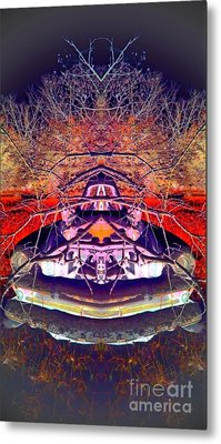 Metal Print featuring the photograph Ghost Car by Karen Newell