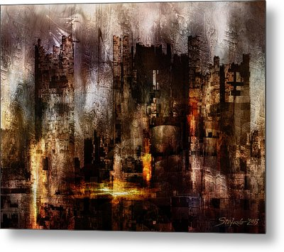Ghost City II Metal Print