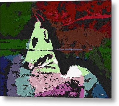 Ghost Cow Metal Print by George Pedro