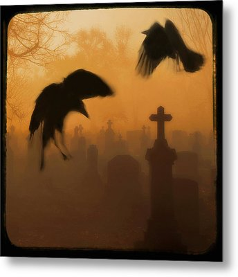 Ghost Crows 2 Metal Print by Gothicrow Images