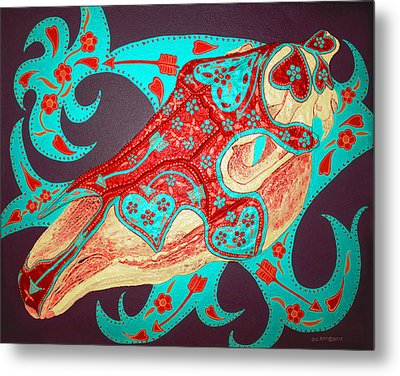 Metal Print featuring the painting Ghost by Debbie Chamberlin