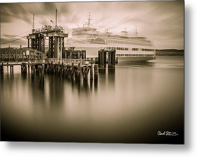 Ghost Ferry Metal Print