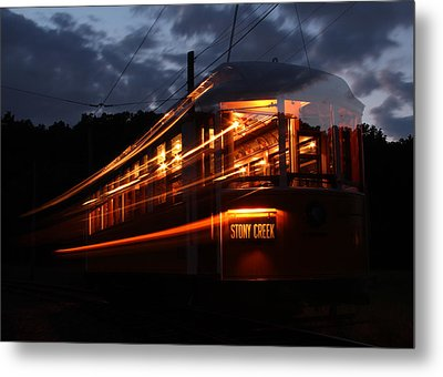 Metal Print featuring the photograph Ghost Of Trolleys Past I by Jim Poulos