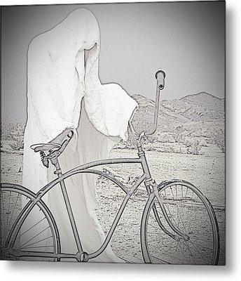 Ghost Rider Sketch Metal Print by Marcia Socolik