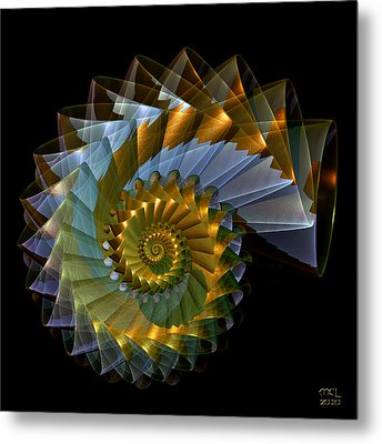 Metal Print featuring the digital art Ghost Shell by Manny Lorenzo