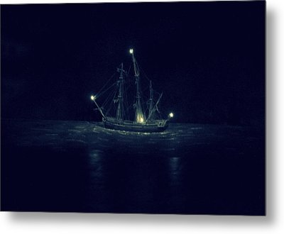 Ghost Ship Metal Print by Laurie Perry