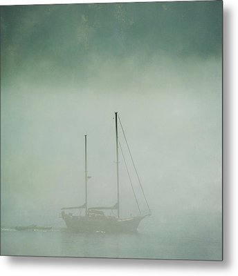 Ghost Ship Metal Print by Sally Banfill
