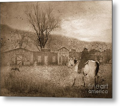 Ghost Town #2 Metal Print by Betty LaRue