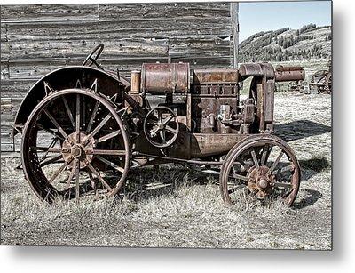 Ghost Town Farm Tractor - Molson Washington Metal Print by Daniel Hagerman