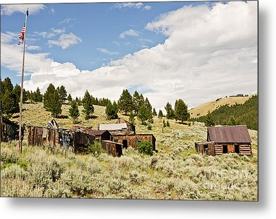 Ghost Town In Summer Metal Print by Sue Smith