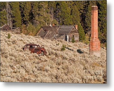 Ghost Town Remains Metal Print by Sue Smith