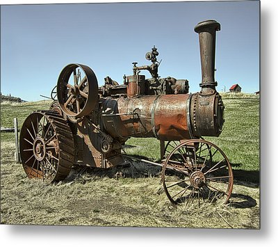 Ghost Town Steam Tractor Metal Print by Daniel Hagerman