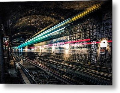 Ghost Train Metal Print by Xavier Liard