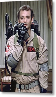 Ghostbusters - Bill Murray Artwork 2 Metal Print by Sheraz A