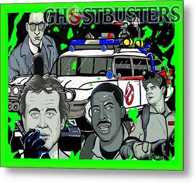 Ghostbusters Metal Print by Gary Niles