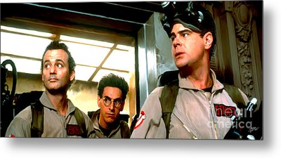 Ghostbusters Metal Print by Paul Tagliamonte